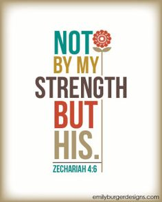 Beautiful & Inspiring Bible Verse - Zechariah 4:6 - EmilyBurgerDesigns