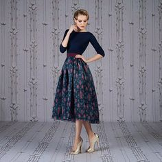 Ulyana Sergeenko skirt and bodysuit from Spring - Summer 2014 Capsule collection