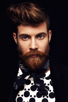 #ginger #man #gentleman #mensstyle #menwithstyle #menfashion #beard #grooming #pattern #blackandwhite #handsome
