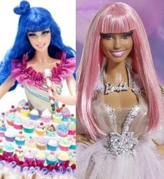 Katy Perry and Niki Minaj barbies! (I could do without the Niki Barbie though, I can't stand her!)