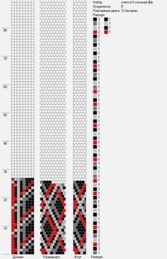 s 591 × 915 pixels Bead Crochet Patterns, Seed Bead Patterns, Bead Crochet Rope, Jewelry Patterns, Beading Patterns, Beaded Crochet, Free Crochet, Bracelet Patterns, Minecraft Beads
