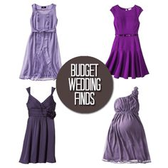 Budget Wedding Finds: Purple Dresses and Shoes