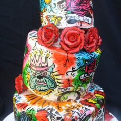 graffiti wedding cake - Google Search