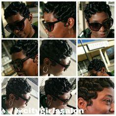 PINCURL and soft fingerwave short haircut