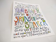 You Are Braver, Stronger, Smarter Than You Think says Christopher Robin to Winnie the Pooh - 8 1/2 x 11 art print by Aimee Ferre
