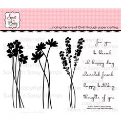 Sweet 'n Sassy Clear Stamps Long Stem Silhouettes