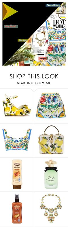 """My Magazine Editorial...................................xx"" by mariloo ❤ liked on Polyvore featuring Dolce&Gabbana, Hawaiian Tropic, Ben-Amun and Tiffany & Co."