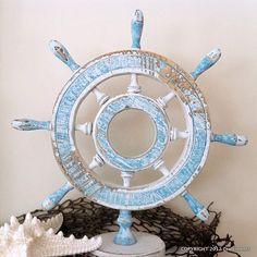 Craftiments.com:  Ship Wheel Makeover
