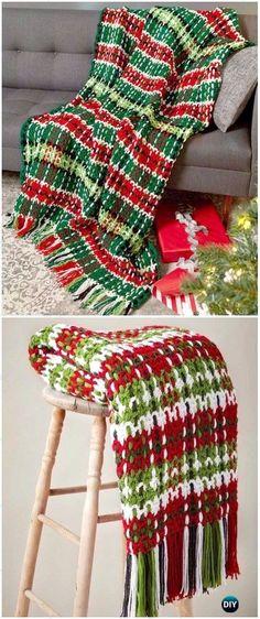 Repeat Crochet Me: Crochet Christmas Blanket Free Patterns & Tutorial...