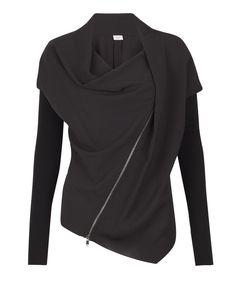 Liberty London - Black Asymmetrical Draped Jacket, Crea Concept Price £165.00