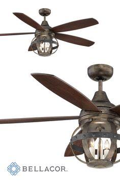 Brentford 52 Inch Reversible Five Blade Indoor Outdoor Ceiling Fan