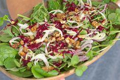 Salada de Folhas Verdes com Funcho e Beterraba ♥ GlutenFree com paixão