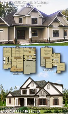 Architectural Designs House Plan 92313MX client-built in Alabama | 3 - 4 BR | 2.5+ BA | 2,400+ sq. ft.| PLUS 300+ sq. ft. Bonus Room | Ready when you are. Where do YOU want to build? #92313MX #adhouseplans #architecturaldesigns #houseplan #architecture #newhome #newconstruction #newhouse #homedesign #dreamhome #dreamhouse #homeplan #architecture #architect #housegoals #client-built #client #southern #home #house #sweethomealabama #farmhouse #modernfarmhouse