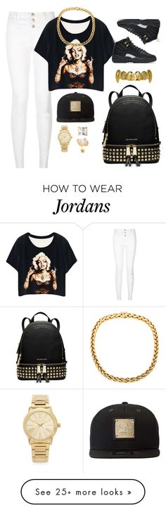 """Untitled #38"" by xbxbygirlarix on Polyvore featuring New Look, NIKE, King Ice, Michael Kors and Starter"