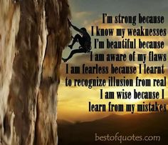 I am strong because quote