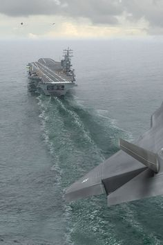 Approach landing on aircraft carrier