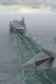 Approach landing on aircraft carrier