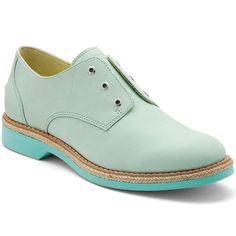 Sperry Top - Women's Delancey Laceless Oxford Shoe - Light Green/Aqua