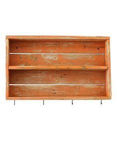 Look what I found on #zulily! Orange Rustic Double Wall Shelf #zulilyfinds
