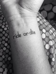 Tats and artists on pinterest family tree tattoos white for Ride or die tattoo