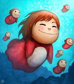 Swimming with the fishes by *Ry-Spirit on deviantART