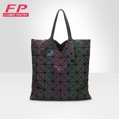 Women BaoBao Bag Geometry Folding Bags Luminous Channels Handbags Casual Tote  Bao Bao Women Shoulder Bags Crossbody Bag bolsa c5ea4cc81e632