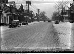 The view in 1938, looking north up Avenue Road from about Yorkville Avenue.