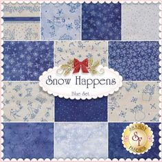 Snow Happens 13 FQ Set - Blue By Bird Brain Designs For Fresh Water Designs: Snow Happens is a winter fabric collection by Bird Brain Designs for Fresh Water Designs. 100% Cotton. This set contains 13 fat quarters, each measuring approximately 18
