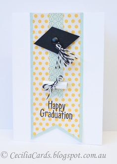 2019 Fun and Easy Graduation Card Ideas Graduation Cards Handmade, Graduation Diy, Handmade Birthday Cards, Scrapbook Cards, Scrapbooking, Scrapbook Layouts, Congratulations Card, Pretty Cards, Card Sketches
