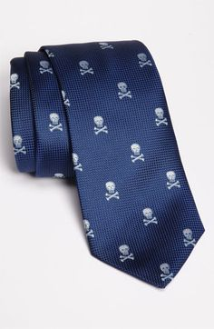 Eton Skull Print Silk Tie