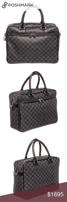 4a4103b31eb2 Louis Vuitton Damier Graphite Leather Laptop Bag Black and charcoal Damier  Graphite coated canvas Louis Vuitton