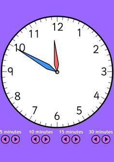 Une horloge animée et configurable à afficher sur le TBI pour découvrir les heures et les durées avec les élèves.