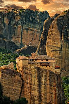Greece. Meteora. The Holy Monastery of Rousanou/St. Barbara.