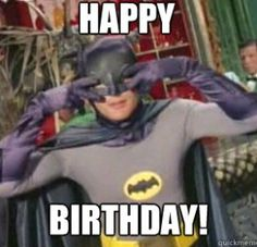 Happy Birthday meme batman