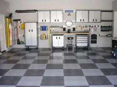Father 39 s day garage makeover on pinterest garage for Man cave garage floor ideas