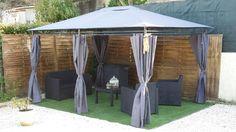 Nicae : tonnelle 3x4m http://www.alicesgarden.fr/parasol-tonnelle/tonnelle/tonnelle-nicae #tonnelle #pergola #jardin #déco #design