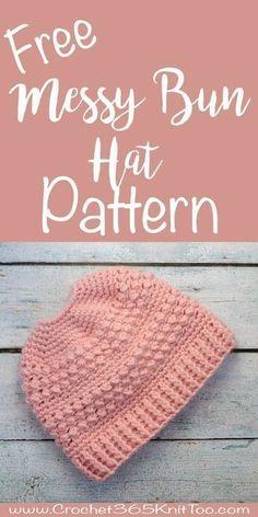 Great Lakes Messy Bun Hat Crochet Pattern