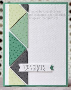 Triangles, Right Triangle, Masculine Birthday Cards, Hand Stamped Cards, Stamping Up Cards, Pretty Cards, Card Sketches, Scrapbook Cards, Scrapbooking