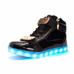 7 Colors Luminous Led Light Shoes Men Women