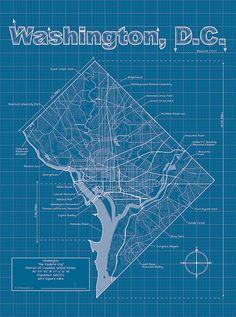 Washington D.C. by MapHazardly #map #dc #washingtondc
