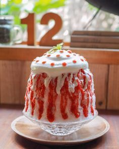 Plaice, Bingsu, Thai Dessert, Sweet Cakes, Coffee Shop, Deserts, Frozen, Strawberry, Ice Cream