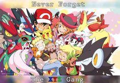The pokemon family of kalos Pokemon Kalos, Pokemon X And Y, Ash Pokemon, Cool Pokemon, Pikachu, Pokemon Stuff, Sawyer Pokemon, Ash And Misty, Pokemon Poster