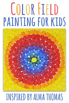 Color Field Painting For Kids: Inspired By Alma Thomas Learn about mixing colors with this kids art project inspired by Alma Thomas, the first black female artist to be added to the White House's art collection. Art Lessons For Kids, Art Lessons Elementary, Art For Kids, Preschool Art Lessons, Primary Lessons, Kid Art, Black Female Artists, Alma Thomas, Kids Inspire