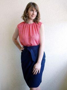 Bluzka z szyfonu,  Burda 7/2012 model 116; blouse