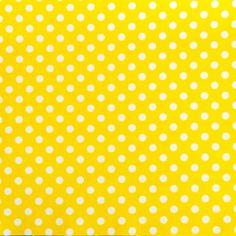 Tissu jaune pois