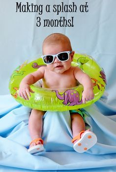 3 month photo summer for august monthly baby picture ideas д Summer Baby Pictures, 3 Month Old Baby Pictures, Milestone Pictures, Monthly Baby Photos, Baby Boy Pictures, Newborn Pictures, 3 Month Photos, August Pictures, Monthly Pictures