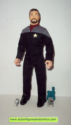 Playmates Toys action figures for sale to buy STAR TREK: the next generation 'collector series' 1998 9 inch, COMMANDER WILLIAM RIKER ('FIRST CONTACT' movie) Condition: Excellent - displayed only. Incl