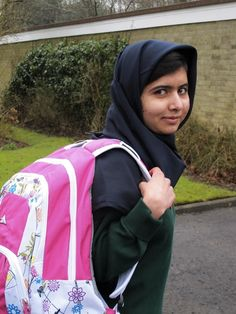 Malala Yousafzai. Advocate for girls education. I love her! Every speech she gives moves me to tears.