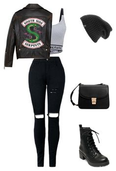 """""""Jughead Jones outfit 17"""" by awkward-pea on Polyvore featuring MANGO, The North Face and Madden Girl"""