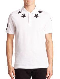 GIVENCHY Short Sleeve Star Polo. #givenchy #cloth #polo